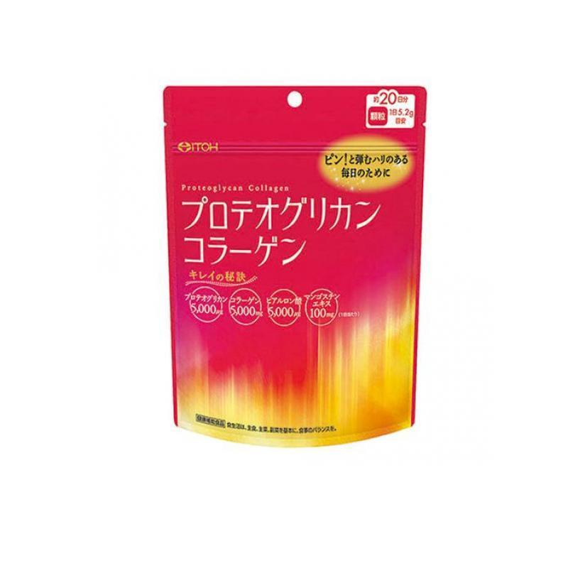 サプリメント 大好評です 美容 コラーゲン ヒアルロン酸 104g プロテオグリカンコラーゲン 井藤漢方 約20日分 激安格安割引情報満載