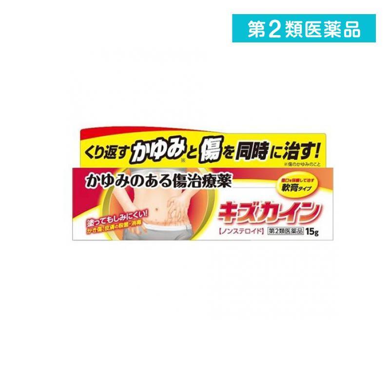 キズカイン 保障 15g 傷薬 かゆみのある傷 ノンステロイド 第2類医薬品 送料無料カード決済可能