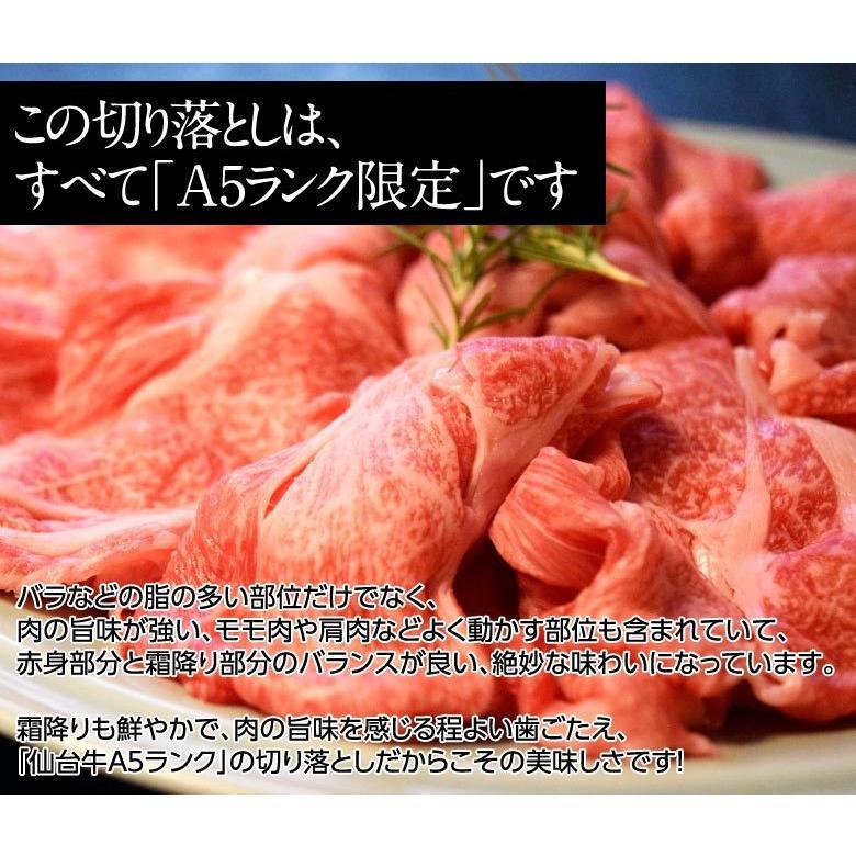 牛 肉 黒毛和牛 A5 ランク限定 仙台牛 切り落とし 計1.5キロ BBQ 500g×3パックセット 冷凍  送料無料 tsukiji-ichiba2 09