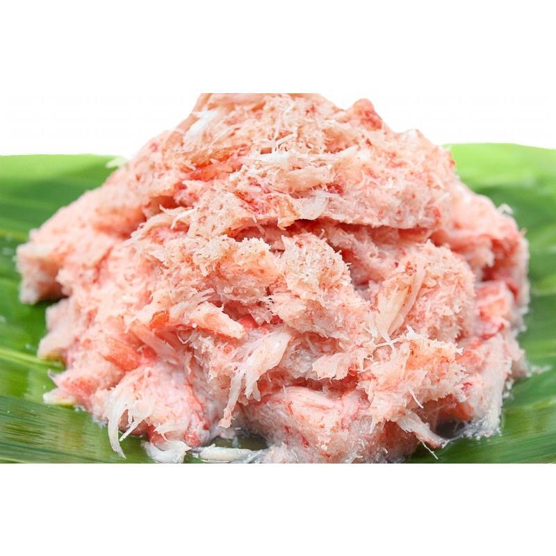 紅ズワイガニ ずわいがに ほぐし身 1kg むき身 かにフレーク カニフレーク かに カニ 蟹|tsukiji-ousama|02