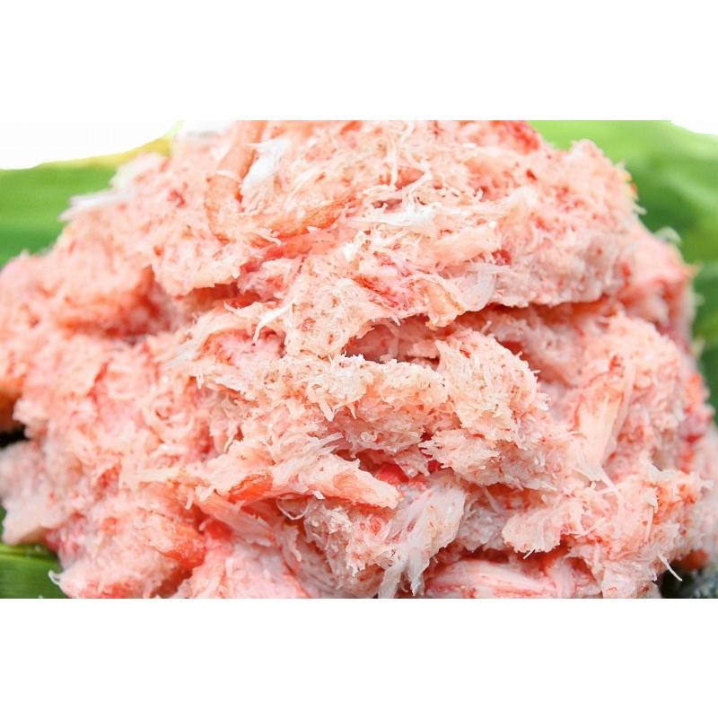 紅ズワイガニ ずわいがに ほぐし身 1kg むき身 かにフレーク カニフレーク かに カニ 蟹|tsukiji-ousama|03