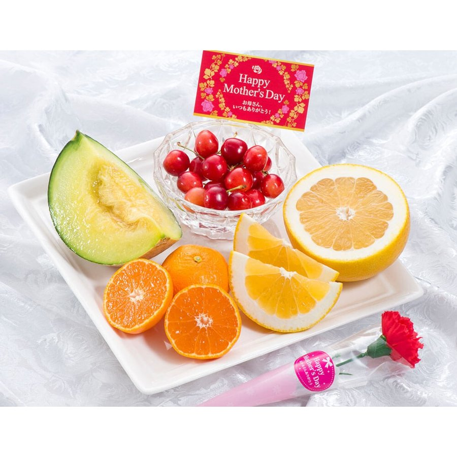 母の日 2021 《母の日ギフト》国産フルーツかご盛り Silver カーネーション(造花)・メッセージカード付き ※常温 送料無料|tsukijiichiba|07