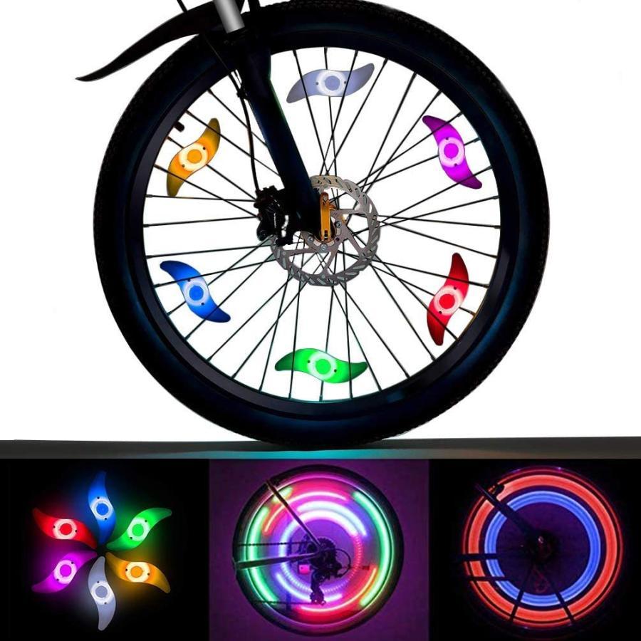 LEDGLE 自転車ホイールライト 自転車用スポークLEDライト 夜間セーフティライト 3発光モード 事故防止 夜道安全 反射板 6個セット tsukinowado 04