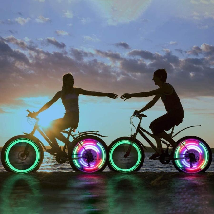 LEDGLE 自転車ホイールライト 自転車用スポークLEDライト 夜間セーフティライト 3発光モード 事故防止 夜道安全 反射板 6個セット tsukinowado 10