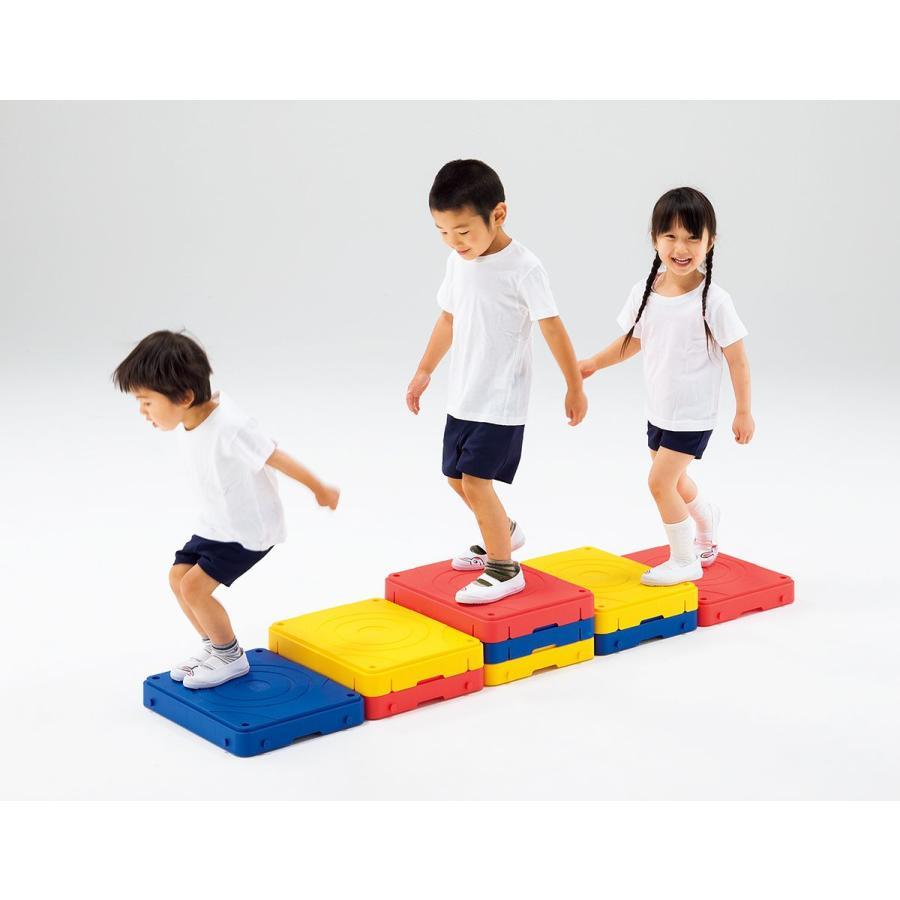 バランス運動やステップ運動に 自由に使えるブロックセット ジョイントステップブロック 9個組