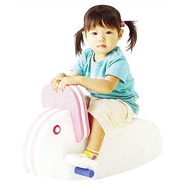 シーソー 一人用 子供用ゆらゆらシーソー うさぎ 楽しく遊びながらバランス感覚を育む