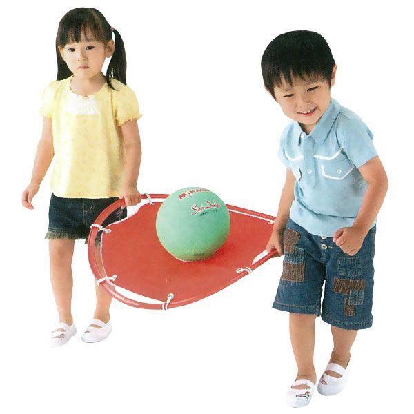 運動会用品 協力してボールを運ぶ リレー競技用遊具 ボール運びリレー 4色組