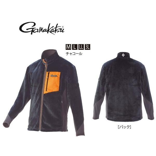 がまかつ ボアフリースジャケット GM-3526 チャコール LLサイズ (お取り寄せ商品) (送料無料) (セール対象商品 11/29(金)13:59まで)