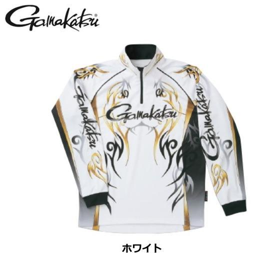 がまかつ 2WAYプリントジップシャツ(長袖)GM-3531 ホワイト LLサイズ / ウエア (送料無料) / (お取り寄せ商品) (年末感謝セール対象商品)