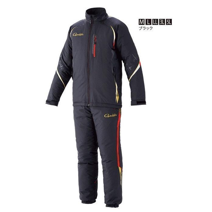 がまかつ トレーニングウォームスーツ GM-3539 ブラック 3Lサイズ (お取り寄せ商品) (送料無料)