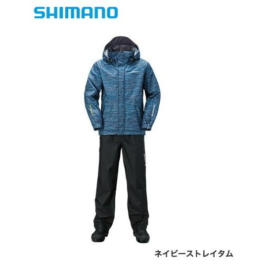 シマノ DSベーシックスーツ RA-027Q ネイビーストレイタム 2XL(3L)サイズ / レインウェア レインスーツ (O01) (S01) (年末感謝セール対象商品)