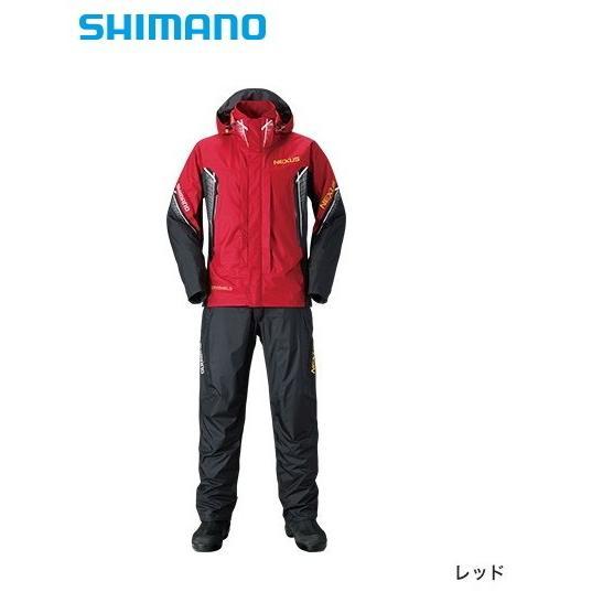 シマノ NEXUS (ネクサス) DS レインスーツ XT RA-118R レッド 2XL(3L)サイズ / レインウェア (送料無料) (O01) (S01) (年末感謝セール対象商品)