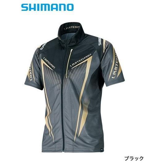シマノ フルジップシャツ リミテッドプロ (半袖) SH-012S ブラック Mサイズ (送料無料) (S01) (O01) (年末感謝セール対象商品)