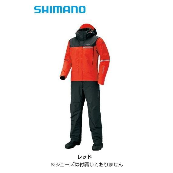 シマノ DSアドバンスウォームスーツ RB-025S レッド 2XL(3L)サイズ / レインスーツ (送料無料) (年末感謝セール対象商品)