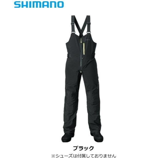シマノ ゼフォー デュラスト(XEFO・DURAST) レインビブ RA-26PS ブラック 2XLサイズ (S01) (O01)