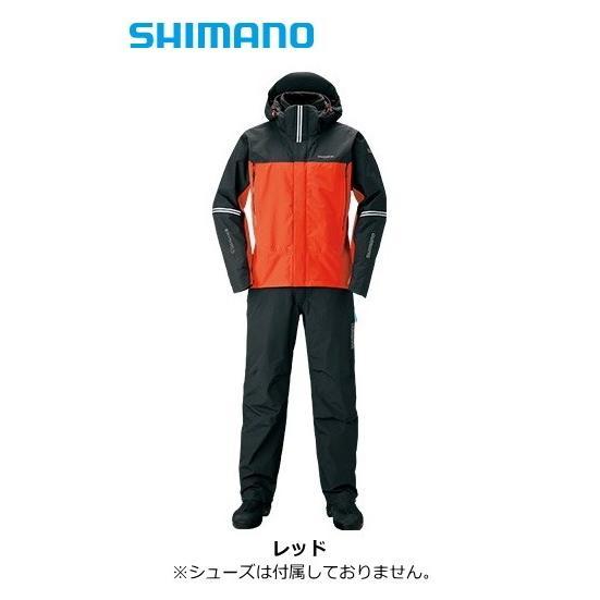 シマノ 19 DSアドバンスプロテクティブスーツ RT-025S レッド Lサイズ / レインスーツ