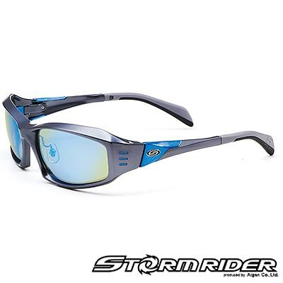 愛眼 ストームライダー スポーツカーブタイプII SR-009-P-2 ガンメタル×ライトブルーメタル オリーブグリーン