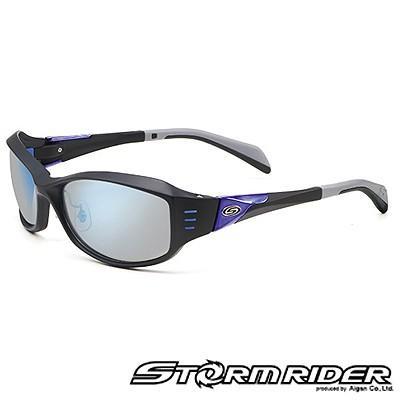 愛眼 ストームライダー ファッションカーブタイプII SR-010-P-1 Mブラック×ブルーメタル テンダーグレー