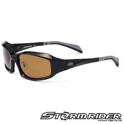 愛眼 ストームライダー スポーツカーブタイプII SR-009-P-5 ブラック×Mブラック マロンブラウン