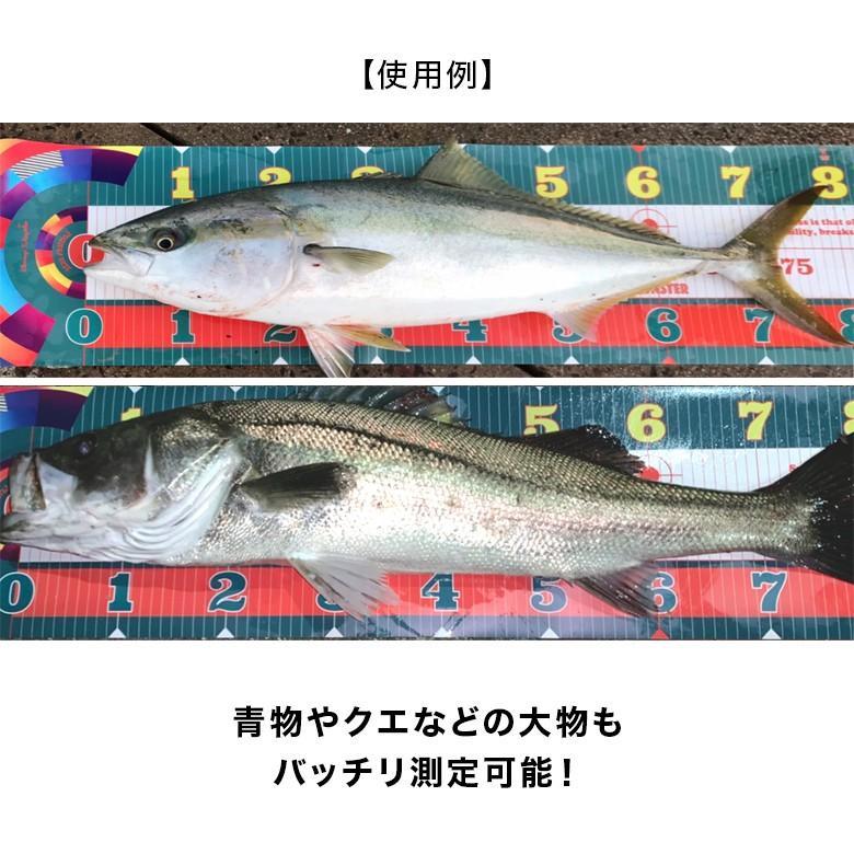 CHONMAGE FISHING ワイドフィッシングメジャー インスタ映え 120cmまで計測可能な幅広設計 フィッシングスケール 夜間撮影 AA-05|tsuriking|07