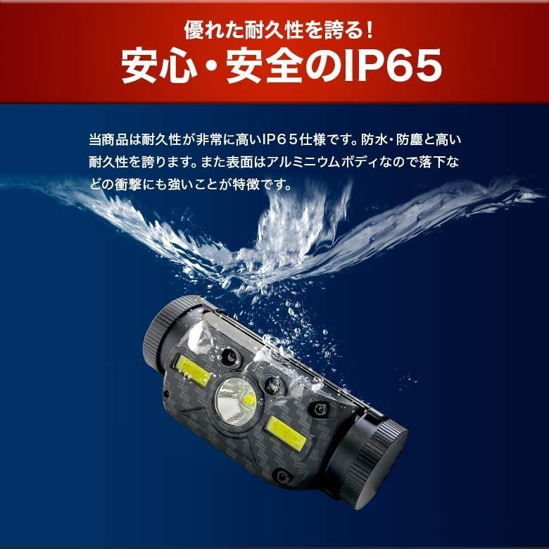 LEDヘッドライト USB充電・電池 2つの給電方法 IRセンサー点灯 釣り アウトドア 登山 防災|tsuriking|11