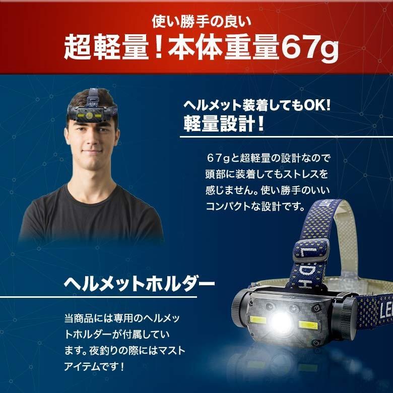 LEDヘッドライト USB充電・電池 2つの給電方法 IRセンサー点灯 釣り アウトドア 登山 防災|tsuriking|09