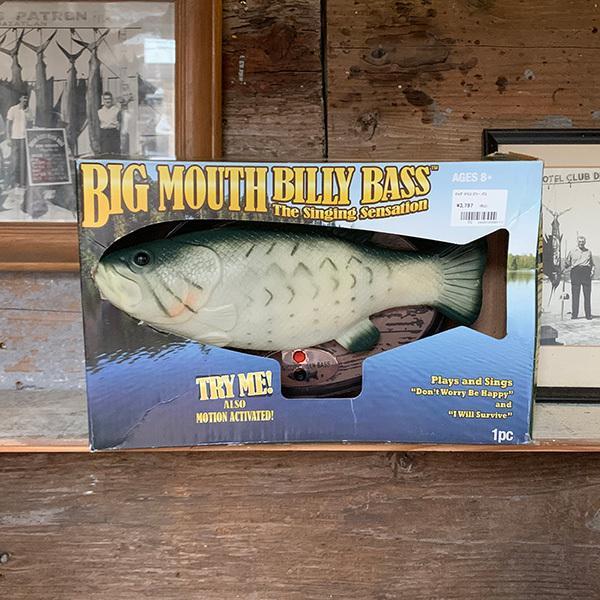 ビッグ マウス ビリー バス Big Mouth Billy Bass 歌って踊る ブラックバス   電動おもちゃ 動く 歌う 踊る 置物  壁掛け インテリア ブラックバス 魚|tsuriking