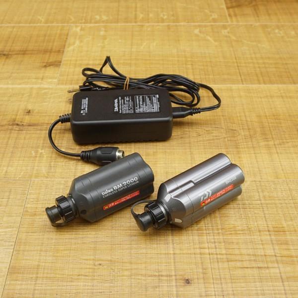 ダイワ スーパーリチウム BM2000、BM2300 充電器セット/R449M バッテリー|tsuriking|10