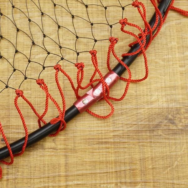 がまかつ 磯タモ枠 四折り ジュラルミン GM-825 45cm、網付き/R458M たも網 tsuriking 05