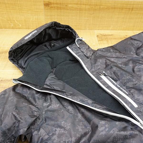 パズデザイン BS ウォームアップ レインスーツII SBR-035 ブラックカモ Mサイズ/R509M 未使用品 ウェア|tsuriking|04