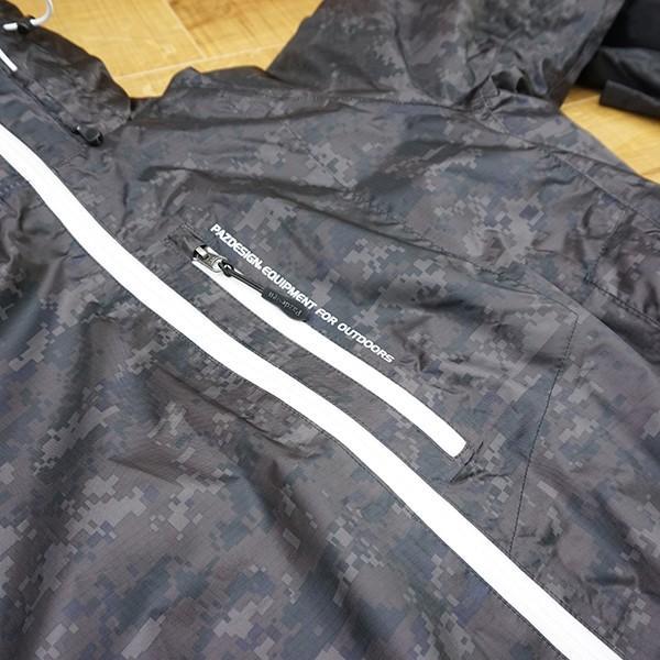 パズデザイン BS ウォームアップ レインスーツII SBR-035 ブラックカモ Mサイズ/R509M 未使用品 ウェア|tsuriking|05