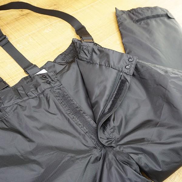 パズデザイン BS ウォームアップ レインスーツII SBR-035 ブラックカモ Mサイズ/R509M 未使用品 ウェア|tsuriking|09
