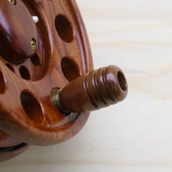 重利作 木製リール 85mm ツルヤ 木製リール 2台セット /A013M 美品 釣り ベイトリール チヌ 落とし込み 波止 ソルト フィッシング tsuriking 03