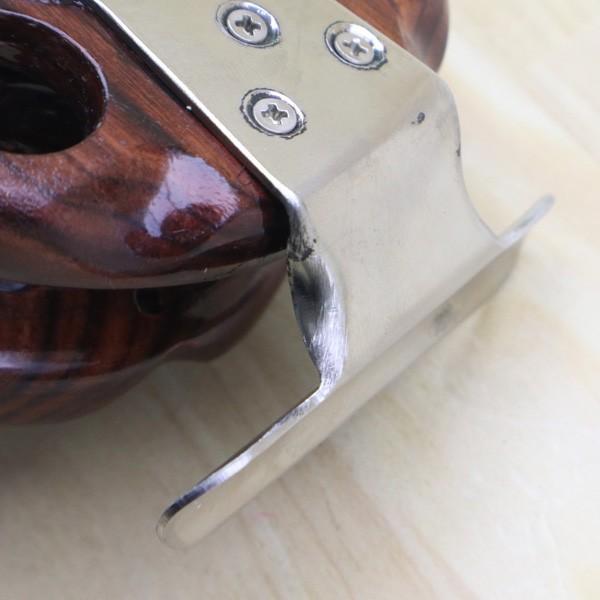 重利作 木製リール 85mm ツルヤ 木製リール 2台セット /A013M 美品 釣り ベイトリール チヌ 落とし込み 波止 ソルト フィッシング tsuriking 09