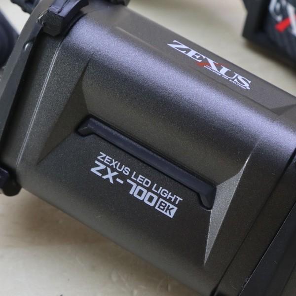 ゼクサス ヘッドライト ZX-700 ブラック LED 400ルーメン/B147S 未使用|tsuriking|03