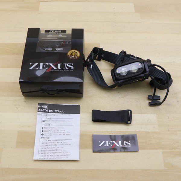 ゼクサス ヘッドライト ZX-700 ブラック LED 400ルーメン/B147S 未使用|tsuriking|06