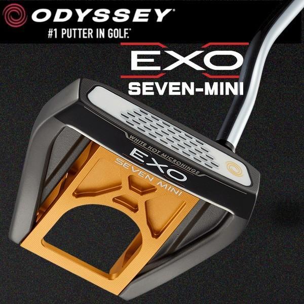 オデッセイ EXO エクソ− SEVEN MINI ゴールド パター ODESSEY EXO SEVEN MINI 右用
