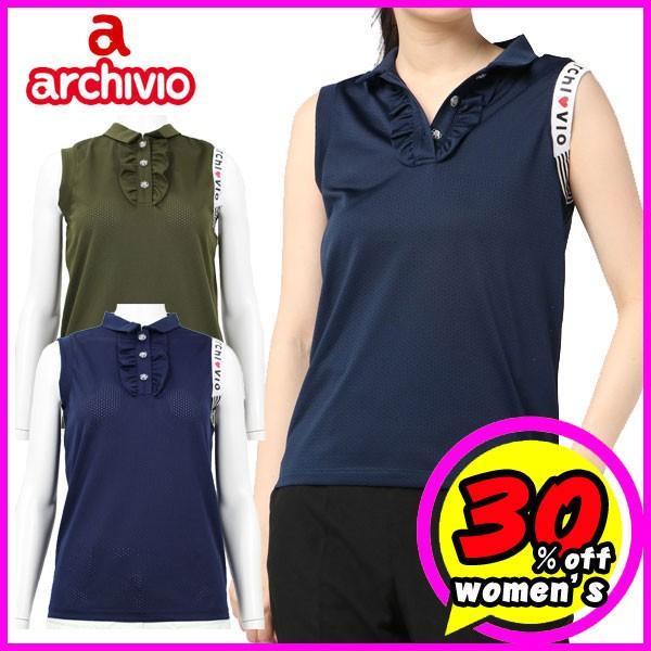50%OFF レディース/女性用 アルチビオ archivio ノースリーブポロシャツ A859421