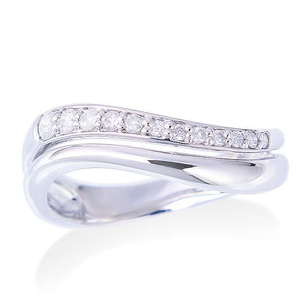 【格安SALEスタート】 K14ホワイトゴールドダイヤモンドリング, 激安通販:9b2fa283 --- airmodconsu.dominiotemporario.com