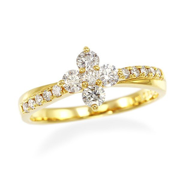 人気が高い  K18イエローゴールドダイヤモンドリング, ブランド風月 ddec7720