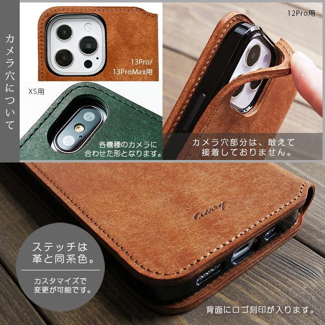 fe529ccf6e ... 【切り目タイプ】iPhone XS ケース 手帳型 本革【プエブロレザー】iPhone ...