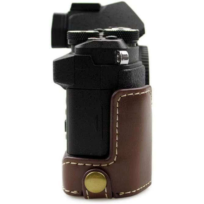 kinokoo OLYMPUS OM-D E-M5 MarkII専用 ボディケースバッテリーの交換でき 三脚ネジ穴 (コーヒー)|tts|02