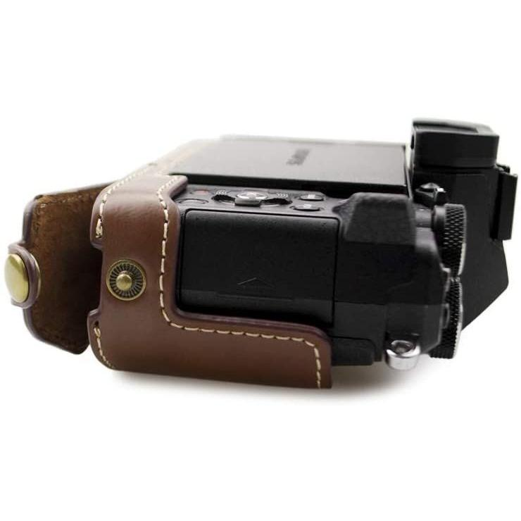 kinokoo OLYMPUS OM-D E-M5 MarkII専用 ボディケースバッテリーの交換でき 三脚ネジ穴 (コーヒー)|tts|07