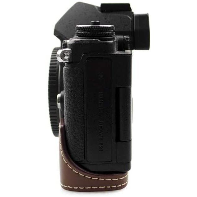 kinokoo OLYMPUS OM-D E-M5 MarkII専用 ボディケースバッテリーの交換でき 三脚ネジ穴 (コーヒー)|tts|09