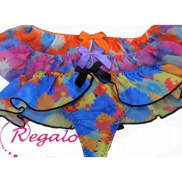 Regalo(レガロ)  ソング(Tバック)ショーツ 31394 ビキニ・ソングショーツ・ラメプリント SALE|tudaya|03