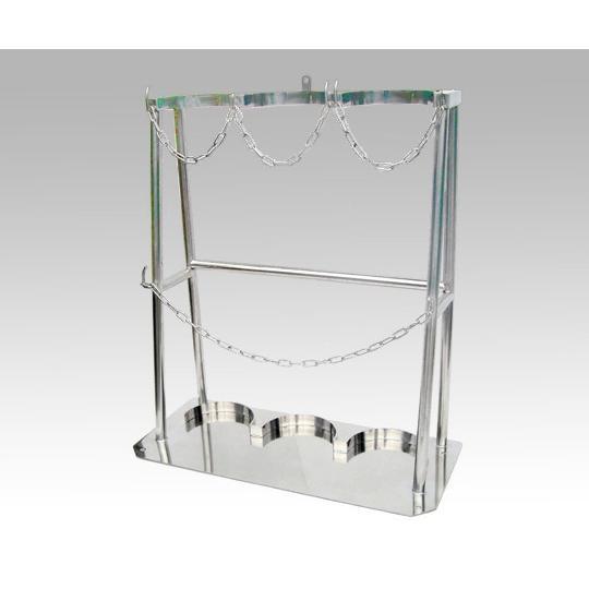クリーンルーム用ボンベスタンド 1500L×3本用 その他 aso 1-3270-03 医療・研究用機器