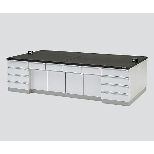 中央実験台 木製タイプ・ケコミ型 3000×1500×800 アズワン aso 3-3680-03 医療・研究用機器