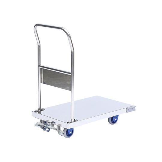 静音ステンレス台車 ブレーキあり 積載荷重150kg aso 3-4799-02 医療・研究用機器