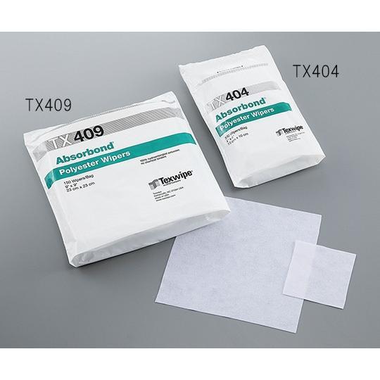 ポリエステルワイパー(Absorbond(R)) 100×100 TX404 テックスワイプ(Texwipe) aso 3-6993-02 医療・研究