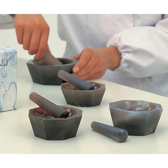 メノー乳鉢 深型 120×150×55  乳棒付き 城戸メノウ乳鉢製作所 aso 6-547-10 医療・研究用機器
